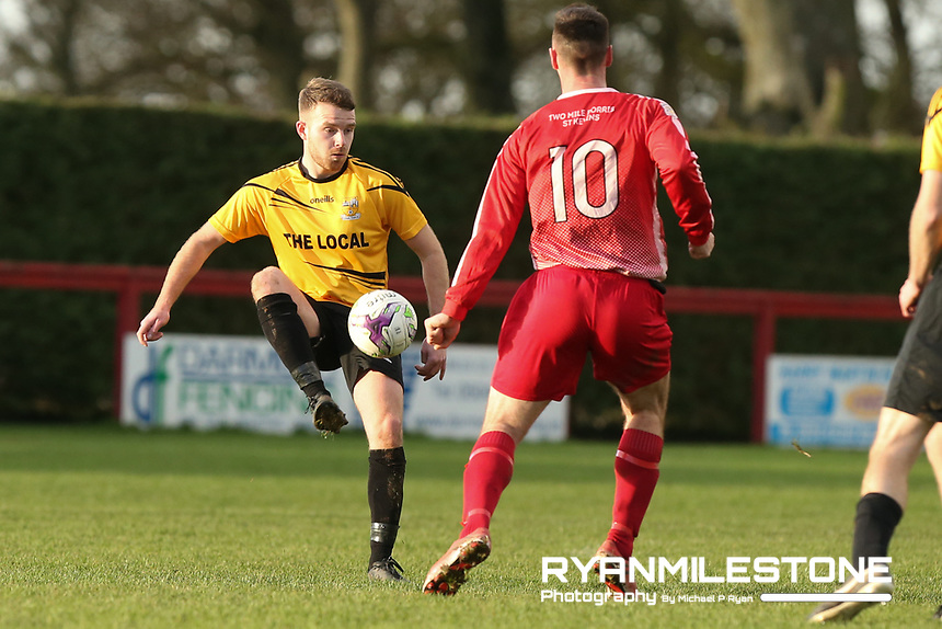 Stephen Kelly of Clonmel Town during the Tipperary Cup 1st Round game between Two Mile Borris and Clonmel Town  on Sunday 9th December 2018 at Newhill, Two Mile Borris Co Tipperary. Mandatory Credit: Michael P Ryan.