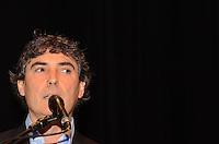 SAO PAULO, 01 DE AGOSTO DE 2012 - ELEICOES 2012 - candidato  Carlos Gianazzi  durante campanha Copa, Olimpiadas, Eleicoes - Qual o legado para sua cidade, na manha desta quarta feira, no auditorio do sesc Consolacao, regiao central da capital. FOTO: ALEXANDRE MOREIRA - BRAZIL PHOTO PRESS