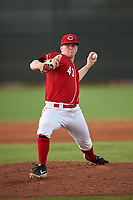 AZL Reds starting pitcher Jacques Pucheu (43) during an Arizona League game against the AZL Athletics Green on July 21, 2019 at the Cincinnati Reds Spring Training Complex in Goodyear, Arizona. The AZL Reds defeated the AZL Athletics Green 8-6. (Zachary Lucy/Four Seam Images)