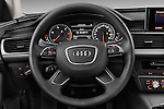 Steering wheel view of a 2014 Audi A6 AVUS 4 Door Sedan 2WD