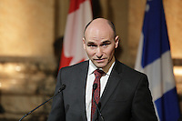The Honourable Jean-Yves Duclos and Honourable Denis Coderre highlight Government of Canada support to the Université de Sherbrooke for its pan-Canadian project against elder abuse<br /> <br /> Photo : Pierre Roussel - Agence Quebec Presse<br /> <br /> <br /> <br /> <br /> <br /> <br /> <br /> <br /> .