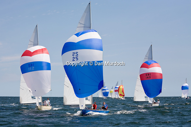 Sailboats racing downwind