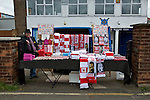 Nottingham Forest 1 Birmingham City 0, 19/04/2014. City Ground, Championship. A man selling merchandise before the Championship fixture between Nottingham Forest and Birmingham City from the City Ground. Nottingham Forest won the game 1-0.  Photo by Simon Gill.