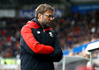 Liverpool manager Jurgen Klopp shows a look of dejection during the Barclays Premier League match between Swansea City and Liverpool played at the Liberty Stadium, Swansea on 1st May 2016