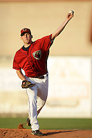 May 31 2009: Jeff Icenogle of the Lancaster JetHawks during game against the Modesto Nuts at Clear Channel Stadium in Lancaster,CA.  Photo by Larry Goren/Four Seam Images