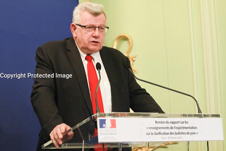 Christian Eckert - Clarification sur le bulletin de salaire - Paris, France - 20/02/2017