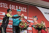 Cheers!<br /> <br /> 1st place: Michael Valgren Andersen (DEN/Astana)<br /> 2nd place: Roman Kreuziger (CZE/Mitchelton Scott)<br /> 3th place: Enrico Gasparotto (ITA/Bahrain Merida)<br /> <br /> <br /> 53th Amstel Gold Race (1.UWT)<br /> 1 Day Race: Maastricht > Berg en Terblijt (263km)