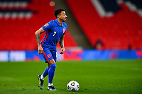 25th March 2021; Wembley Stadium, London, England;  Jesse Lingard England looks up for passing options during the World Cup 2022 Qualification match between England and San Marino at Wembley Stadium in London, England.