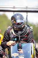 May 4, 2019; Commerce, GA, USA; NHRA top fuel driver Scott Palmer during qualifying for the Southern Nationals at Atlanta Dragway. Mandatory Credit: Mark J. Rebilas-USA TODAY Sports