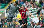Celtic v St Johnstone...21.09.13      SPFL<br /> Chris Millar reacts after hsi shot is pushed rlound the post by Fraser Forster<br /> Picture by Graeme Hart.<br /> Copyright Perthshire Picture Agency<br /> Tel: 01738 623350  Mobile: 07990 594431