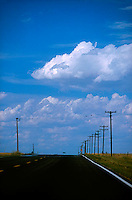 Blacktop roadway and sky<br />