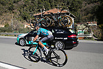 Bryan Coquard (Fra) B&B Hotels/KTM climbs Cote de Duranas during Stage 8 of Paris-Nice 2021, running 92.7km from Le Plan-du-Var to Levens, France. 14th March 2021.<br /> Picture: ASO/Fabien Boukla | Cyclefile<br /> <br /> All photos usage must carry mandatory copyright credit (© Cyclefile | ASO/Fabien Boukla)
