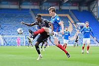 Sean Raggett of Portsmouth right tackles Fejiri Okenabirhie of Doncaster Rovers during Portsmouth vs Doncaster Rovers, Sky Bet EFL League 1 Football at Fratton Park on 17th October 2020