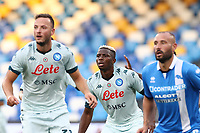 Victor Osimhen of SSC Napoli looks on<br /> during the friendly football match between SSC Napoli and Pescara Calcio 1936 at stadio San Paolo in Napoli, Italy, September 11, 2020. <br /> Photo Cesare Purini / Insidefoto