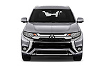 Car photography straight front view of a 2020 Mitsubishi Outlander-PHEV Business 5 Door SUV Front View
