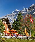 Switzerland, Canton St. Gallen, Schwaegalp: starting point of aerial cable car 'Schwaegalp–Saentis' | Schweiz, Kanton St. Gallen, Schwaegalp: Start der Luftseilbahn Schwaegalp–Saentis