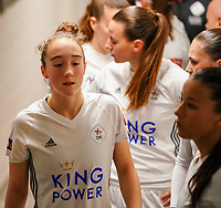 20.02.2020 OUD-HEVERLEE: OHL's Hanne Hellinx and her team mates in the tunnel before the  Belgian's Women's Super League match between Oud-Heverlee Leuven vs KRC Gent Ladies on Friday 20th February 2020, Stadion Oud-Heverlee, Oud-Heverlee, BELGIUM. PHOTO: SEVIL OKTEM