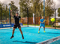 Netherlands, September 5,  2020, Amsterdam, Padel Dam, NK Padel, National Padel Championships, Marcel Bogaart (NED) (R) and  Arwin Romeijn (NED)<br /> Photo: Henk Koster/tennisimages.com