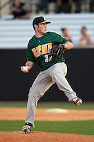 Siena Saints pitcher Neil Fryer #32 delivers a pitch during a game against the UCF Knights at the UCF Baseball Complex on March 3, 2012 in Orlando, Florida.  UCF defeated Siena 6-4.  (Mike Janes/Four Seam Images)