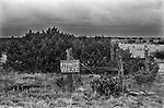 Born Again Christian Movement, 'Eternity Where', a sign fixed to a road side fence. Big Spring, Texas, US 1999 1990s