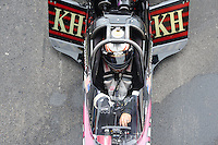 Apr. 30, 2011; Baytown, TX, USA: NHRA top fuel dragster driver Del Worsham during qualifying for the Spring Nationals at Royal Purple Raceway. Mandatory Credit: Mark J. Rebilas-
