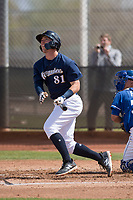Milwaukee Brewers center fielder Tristen Lutz (81) during a Minor League Spring Training game against the Kansas City Royals at Maryvale Baseball Park on March 25, 2018 in Phoenix, Arizona. (Zachary Lucy/Four Seam Images)