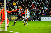 Sheffield United's forward Leon Clarke (9) fires in the equaliser during the Sky Bet Championship match between Sheff United and Hull City at Bramall Lane, Sheffield, England on 4 November 2017. Photo by Stephen Buckley / PRiME Media Images.