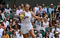 8th July 2021, Wimbledon, SW London, England; 2021 Wimbledon Championships, quarterfinals;  Karolina Pliskova , CZE