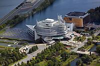 aerial photograph of the Montreal Casino, Casino de Montréal, Notre Dame Island, Montreal, Quebec, Canada | photographie aérienne du Casino de Montréal, Casino de Montréal, île Notre Dame, Montréal, Québec, Canada