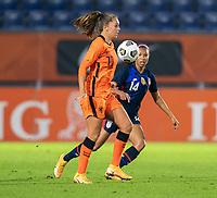 BREDA, NETHERLANDS - NOVEMBER 27: Lieke Martens #11 of the Netherlands dribbles during a game between Netherlands and USWNT at Rat Verlegh Stadion on November 27, 2020 in Breda, Netherlands.