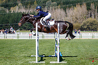 NZL-Sadie-J Douglas rides Jackpot Jake. Class 26: Pony 1.05m Ranking Class. 2021 NZL-Easter Jumping Festival presented by McIntosh Global Equestrian and Equestrian Entries. NEC Taupo. Saturday 3 April. Copyright Photo: Libby Law Photography