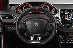 Car pictures of steering wheel view of a 2016 Peugeot 208 GTI 3 Door Hatchback 2WD Steering Wheel