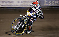 Richard Lawson of Lakeside Hammers - Lakeside Hammers vs Leicester Lions, Elite League Speedway at the Arena Essex Raceway, Pufleet - 04/04/14 - MANDATORY CREDIT: Rob Newell/TGSPHOTO - Self billing applies where appropriate - 0845 094 6026 - contact@tgsphoto.co.uk - NO UNPAID USE