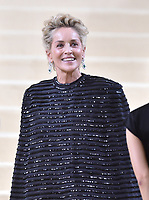 """NEW YORK, NEW YORK - SEPTEMBER 13: Sharon Stone at the 2021 Met Gala benefit """"In America: A Lexicon of Fashion"""" at Metropolitan Museum of Art on September 13, 2021 in New York City. Credit: John Palmer/MediaPunch"""