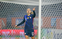 BREDA, NETHERLANDS - NOVEMBER 27: Alex Morgan #13 of the United States giving direction during a game between Netherlands and USWNT at Rat Verlegh Stadion on November 27, 2020 in Breda, Netherlands.