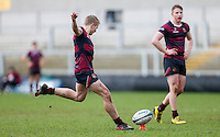 Tuesday 28th February 2017 | ULSTER SCHOOLS CUP SEMI-FINAL<br /> <br /> Conor McAuley during the Ulster Schools Cup Semi-Final between MCB and BRA at Kingspan Stadium, Ravenhill Park, Belfast, Northern Ireland. <br /> <br /> Photograph by John Dickson | www.dicksondigital.com