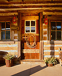 Country style windows and doors at Stevensville, Texas