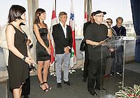 Montreal (Qc) Canada - Aug 31 2010 - Serge Losique and The jury of  the 2010 World Film Festival : PrÈsident : BILLE AUGUST, rÈalisateur (Danemark)<br /> IR??NE BIGNARDI, journaliste et directrice de festivals (Italie)<br /> ANNE-MARIE CADIEUX, actrice (Canada)<br /> MARWAN HAMED, rÈalisateur (…gypte)<br /> IGOR MINAEV, rÈalisateur (Ukraine-France)<br /> …DOUARD MOLINARO, rÈalisateur (France)<br /> LIJUNG TANG, directrice de festivals (Chine)
