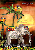 Kris, ETHNIC, paintings,+elephant++++,PLKKE289,#ethnic# elephants, Africa