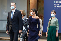 OVIEDO, SPAIN - October 16: **NO SPAIN**  King Felipe,  Queen Letizia and Princess Leonor of Spain at the Princess of Asturias awards 2020 at the Reconquista hotel in Oviedo, Spain on the 16th of October of 2020.. <br /> CAP/MPI/RJO<br /> ©RJO/MPI/Capital Pictures
