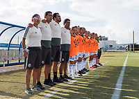 Bradenton, FL - Sunday, June 12, 2018: Mexico prior to a U-17 Women's Championship Finals match between USA and Mexico at IMG Academy.  USA defeated Mexico 3-2 to win the championship.