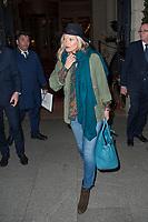 January 17 2018, PARIS FRANCE<br /> Top Model Kate Moss leaves the Hotel the<br /> Ritz in Paris. #> BEAUCOUP DE PEOPLE A L'HOTEL DU RITZ DE PARIS