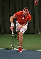 Rotterdam, The Netherlands, 07.03.2014. NOJK ,National Indoor Juniors Championships of 2014,   Patrick Speelman (NED)<br /> Photo:Tennisimages/Henk Koster