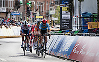 Florian Vermeersch (BEL/Lotto Soudal) leading the pursuit <br /> <br /> U23 - Road Race (WC)<br /> race from Antwerp to Leuven (161.1km)<br /> <br /> UCI Road World Championships - Flanders Belgium 2021<br /> <br /> ©kramon