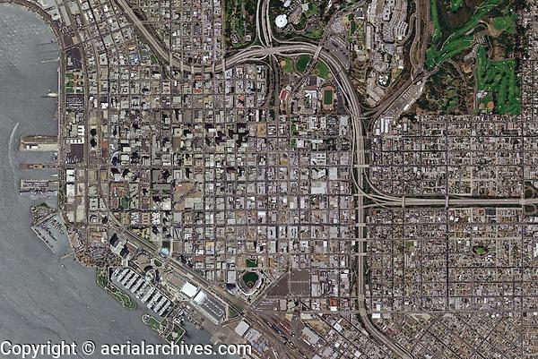 aerial photo map of San Diego, California