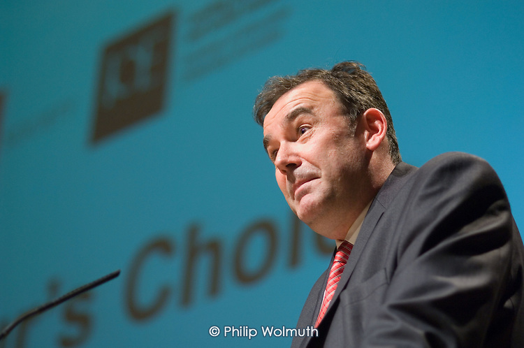 Jon Cruddas MP speaks at a Fabian Society hustings meeting for candidates for the deputy leadership of the Labour Party at the Institute of Education, London.
