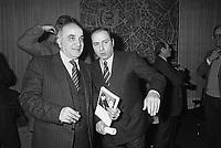 - il senatore della Democrazia Cristiana Antonio Gava e l'imprenditore Silvio Berlusconi (Milano, 1984)<br /> <br /> - the senator of the Christian Democratic Party  Antonio Gava and the businessman Silvio Berlusconi (Milan, 1984)..