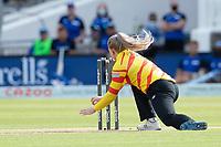 Sarah Glenn prepares to run out Dottin of London Spirit during London Spirit Women vs Trent Rockets Women, The Hundred Cricket at Lord's Cricket Ground on 29th July 2021