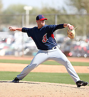 David Roberts, Cleveland Indians 2010 minor league spring training..Photo by:  Bill Mitchell/Four Seam Images.