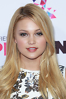 SANTA MONICA, CA, USA - OCTOBER 08: Olivia Holt arrives at the Vevo CERTIFIED SuperFanFest held at Barkar Hangar on October 8, 2014 in Santa Monica, California, United States. (Photo by David Acosta/Celebrity Monitor)